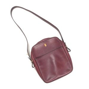 Vintage Must De Cartier burgundy leather purse
